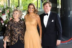 King Willem-Alexander of The Netherlands with his wife and mother