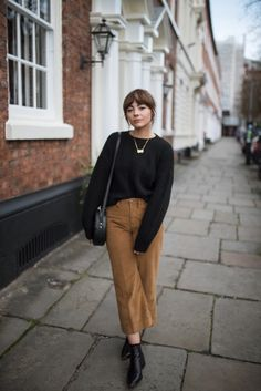 Alice Catherine wearing our Wide Leg Cord Trousers