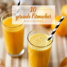 Detox-Smoothie mit Orange, Mango und Ingwer