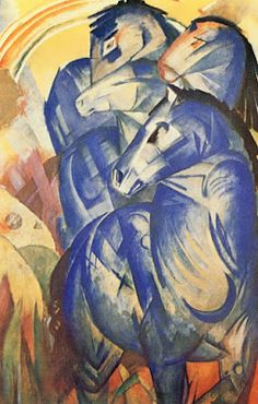 Blue Horse II 1911 Franz Marc Poster Canvas Picture Premium Quality A0-A4