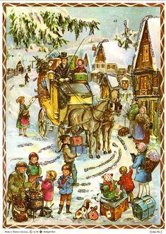 Vtg Stuttgart-Rohr Christmas Advent Calendar West Germany Mid Century Nativity for sale online German Advent Calendar, Chocolate Advent Calendar, Christmas Calendar, Christmas Countdown, Advent Calendars, Christmas Material, Christmas Fabric, Christmas Toys, German Christmas