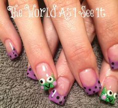 These are my cute Frog Nails.  I love nail art and these are one of my favorites!