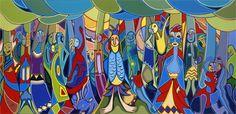 New Art Gallery Exhibition Drawings Ideas Pop Art Drawing, Illustration Art Drawing, Toddler Art Projects, Easy Art Projects, Modern Canvas Art, Modern Art Paintings, Daphne Odjig, Black Art Painting, Art Deco Decor