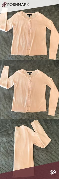 Baby pink cardigan with pearl buttons It's in perfect condition, maybe worn once. Very comfortable and lady like. Smoke and pet free home. Sweaters Cardigans