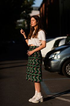 street style SS14 Midi Pencil Skirt #print #pattern