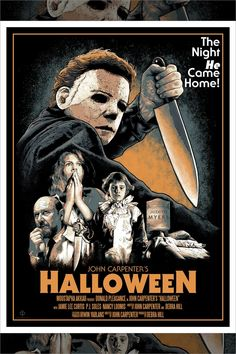 """""""The Boogeyman is Real"""" by Mark W. Horror Icons, Horror Movie Posters, Movie Poster Art, Horror Art, Horror Movies, Slasher Movies, Funny Horror, Michael Myers, Halloween Series"""