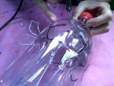Aula vaso de PET vazado - Flor - YouTube