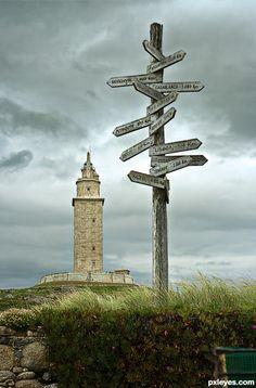 Torre de Hércules. A Coruña, Galicia, Spain.