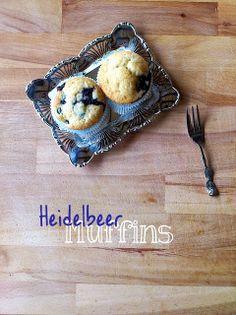 Die Glücklichmacherei: Kuchiges Glück #2: Heidelbeer Muffins