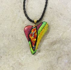 Glassfusing necklace. Made by me :D