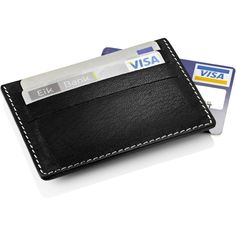 Stelton - i:cons Credit Card Case ($63) ❤ liked on Polyvore featuring bags, wallets, accessories, men, fillers, wallets and card holders, real leather wallets, engraved leather wallets, holiday bags and stelton