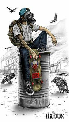 Graffiti skater