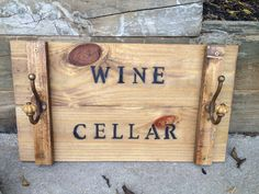 Vintage Wine Crate Cellar Sign by EclecticologyDesigns on Etsy, $29.99