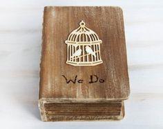 Rustic carte boîte porte souvenir boîte en bois coffre