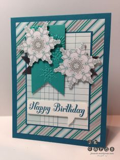 Stampin' Up!, SUO Challenges 87, Bring on the Cake, Winter Frost Specialty DSP, Silver Foil Sheet, Festive Flurry Framelits, Word Bubble Framelits, Northern Flurry Embossing Folder, *2014 Occasions Catalog (January 3, 2014)