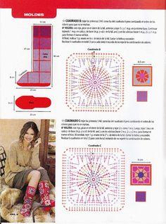 Crochet Mandala Pattern, Crochet Patterns, Motifs Granny Square, Beach Mat, Outdoor Blanket, Slippers, Tips, Shoes, Crochet Clothes