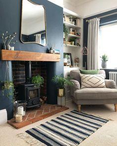 Living Room Decor Colors, Living Room Color Schemes, Living Room Interior, Home Living Room, Living Room Designs, Log Burner Living Room, Dark Green Living Room, Victorian Living Room, Living Room Inspiration