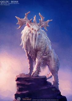 Quilin Boss Picture fantasy, creature, concept art, character, age of conan) Mythical Creatures Art, Mythological Creatures, Magical Creatures, Cute Fantasy Creatures, Monster Concept Art, Monster Art, Creature Concept Art, Creature Design, Beast Creature