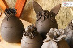 Cerâmica, pottery, easter eggs, ovo de páscoa, orelha de coelho, bunny's ear, decoração