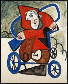 Picasso - Child in His Car, 1949
