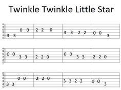 Easy Guitar Tab Twinkle Twinkle Little Star Guitar Tabs Acoustic, Guitar Tabs And Chords, Easy Guitar Tabs, Guitar Chords Beginner, Guitar Chords For Songs, Guitar Notes, Guitar Sheet Music, Guitar Tips, Simple Guitar