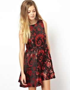 ASOS Reclaimed Vintage Brocade Smock Dress