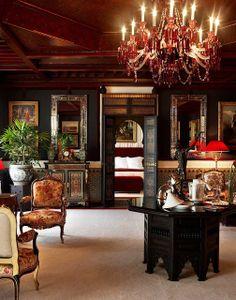 La Mamounia, Morocco Ravishing and regal, La Mamounia hotel is set in royal gardens, styled with a medley of art deco and Moorish opulence, and as sensuous as a seraglio. Moroccan Design, Moroccan Decor, Moroccan Style, Moroccan Bedroom, Moroccan Lanterns, Mamounia Marrakech, Marrakech Morocco, Style Marocain, European Decor