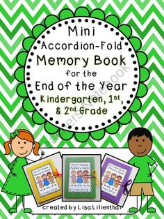 End of Year Mini-Memory Book for Primary Grades from Lisa Lilienthal on TeachersNotebook.com (25 pages)  - This project is a simple and cute accordion-fold mini memory book for students to record some of their best kindergarten, first, or second grade memories at the end of the school year.