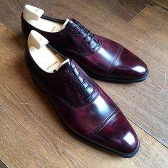 """John Lobb """"Philip in Plum Museum caft Mens Shoes Boots, Sock Shoes, Leather Shoes, Men's Shoes, Shoe Boots, Derby, Gentleman Shoes, Mens Fashion Shoes, Men's Fashion"""