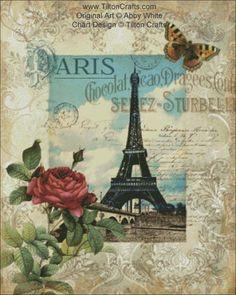 Cross Stitch Chart Eternal Paris DOWNLOAD by TiltonCrafts on Etsy, $15.00