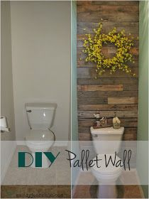 House For Five: Reader Spot: A Pallet Wall For The Bathroom