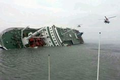 Sewol Ferry sinks in S Korea with 350 students on board. 450 total passengers and only 270 were rescued. The rest all drowned with the ferry.