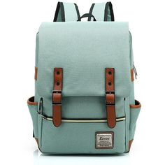 Kenox Vintage Laptop Backpack College Backpack School Bag Fits 15-inch... (97 PEN) ❤ liked on Polyvore featuring accessories and tech accessories
