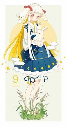 Kawaii Illustration, Anime Animals, Anime Style, Anime Girl Cute, Anime Art Girl, Kawaii Anime Girl, Beautiful Anime Girl, Manga Girl, Anime Girls
