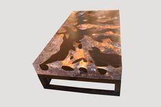 Cracked Resin Coffee Table With Base
