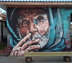 Urban Street Art, 3d Street Art, Street Art Graffiti, Street Artists, Graffiti Wall Art, Mural Art, Graffiti Artists, Graffiti Lettering, Potrait Painting