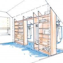Begehbarer kleiderschrank dachschräge ideen  begebarer Kleiderschrank-Dachschräge | Interieur | Pinterest ...