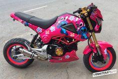 Pink Honda MSX Lilo et Stitch