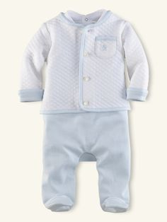 3-Piece Overall Set - Layette Outfits & Gift Sets - RalphLauren.com