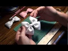 "Learn how to make a simple boutique hair bow, sometimes called a pinwheel bow.   SUBSCRIBE for email notifications on new videos    Tools needed: 1.5"" wide Grosgrain ribbon                             Hot Glue Gun                          Lined alligator clip                          Scissors"