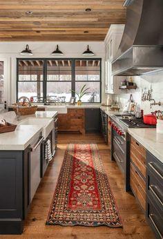 Boho Kitchen, Farmhouse Kitchen Decor, Kitchen Redo, New Kitchen, Kitchen Remodel, Kitchen Design, Kitchen Ideas, Life Kitchen, Industrial Farmhouse