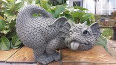 "Garden Dragon ""Bääääh"" - Home Decor Dragon Statue, Dragon Art, Magical Creatures, Fantasy Creatures, Dragon Nursery, Dragon Garden, Beautiful Dragon, Dragon Jewelry, Cute Dragons"