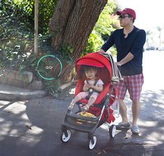 Toddler essentials via @OhJoy featuring Stokke Scoot Stroller in Red