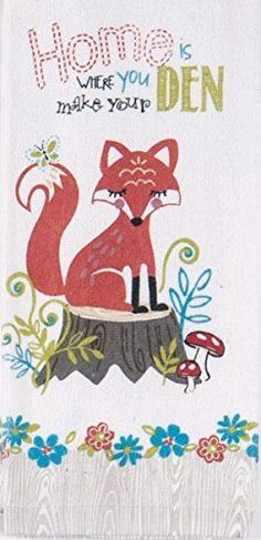 Fiddlehead Fox Kitchen Terry Towel (1) By Kay Dee Designs Part 47