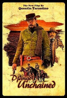Django Unchained Movie poster Metal Sign Wall Art 8in x 12in