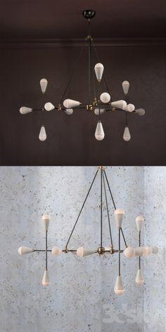 3d models: Ceiling light - Apparatus Triad Lamp (On perezalivke)