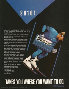 Retro Synth Ads: sh-101