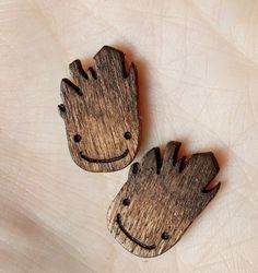 Baby Groot Laser Cut Wood Earrings | Community Post: 40 Pieces Of Jewelry Every Nerd Will Love
