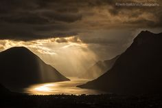 The lake through sunbeams by Alfredo Costanzo Lugano, Our World, Amazing Nature, Waterfall, In This Moment, Explore, Travel, Outdoor, Beautiful