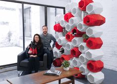 3D-printed storage from Simplus Design and Bold Machines integrates into the home or office as you see fit